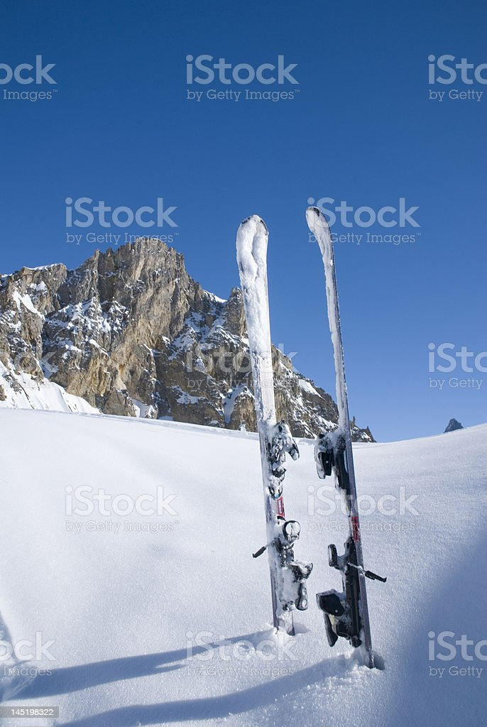 Relaxation in Les Arcs. France stock photo