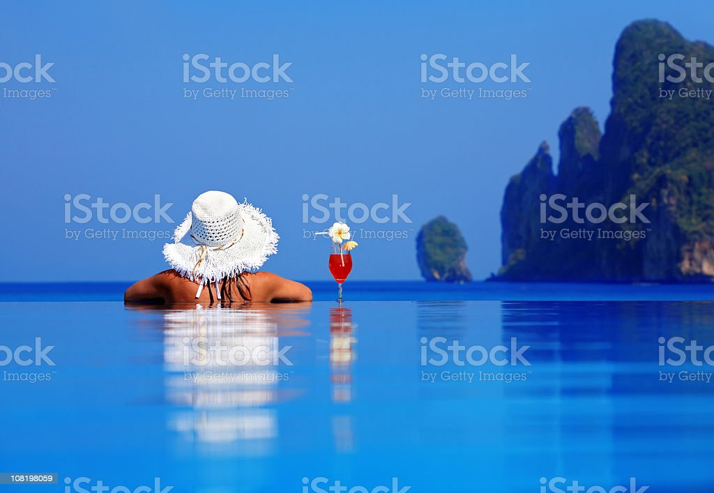 Relaxation in pool. royalty-free stock photo