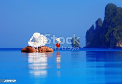 istock Relaxation in pool. 108198059
