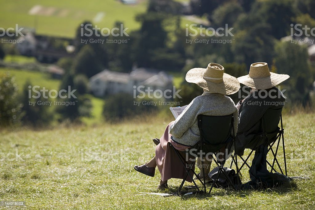 Relaxation in retirement stock photo