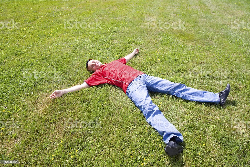 relaxation man royalty-free stock photo