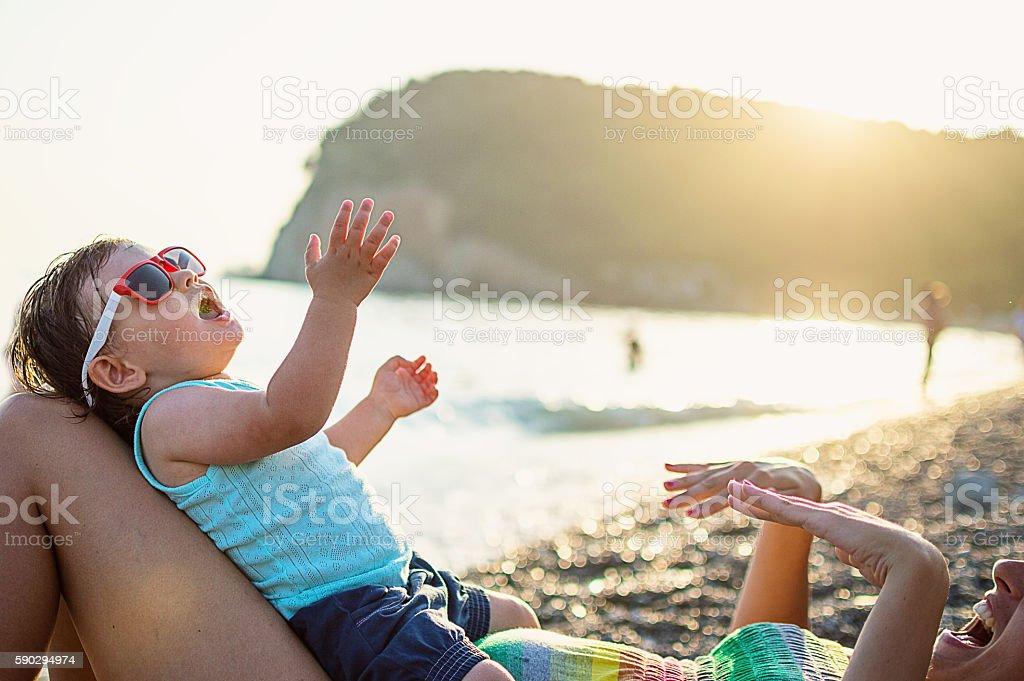 Отдых на пляже Стоковые фото Стоковая фотография