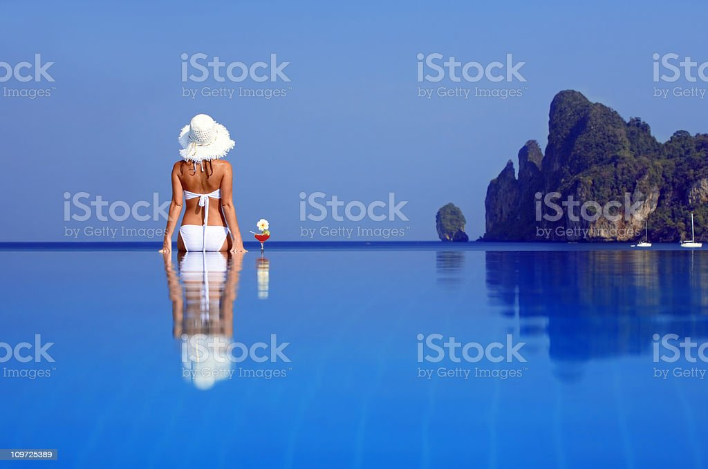 Relaxation on the water royalty-free stock photo