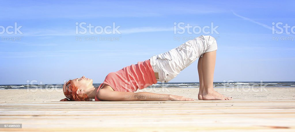 relaxation outdoors royalty-free stock photo