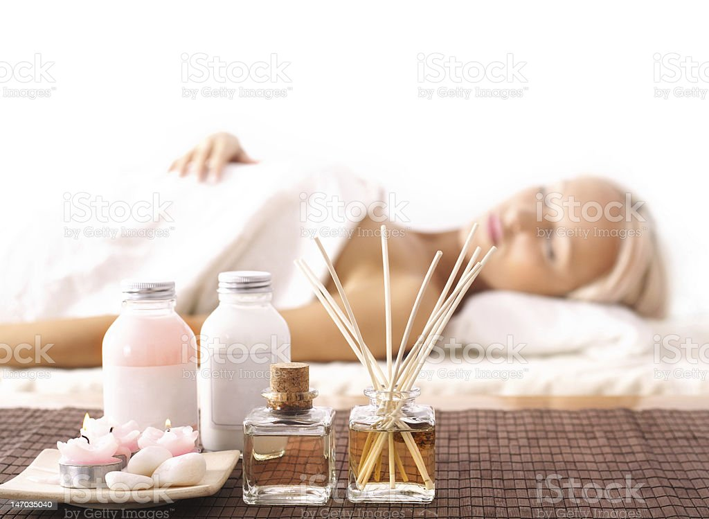 SPA relaxation stock photo