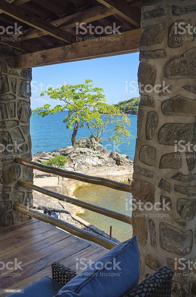 Relaxation pure on Lake Malawi stock photo