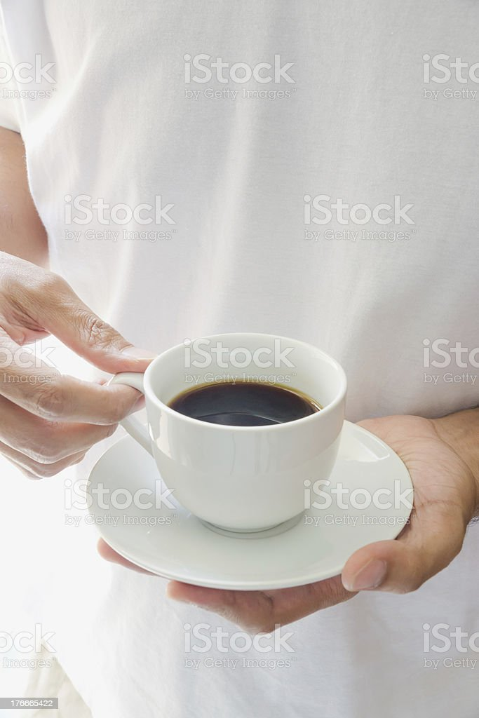 Relaxation with black coffee royalty-free stock photo