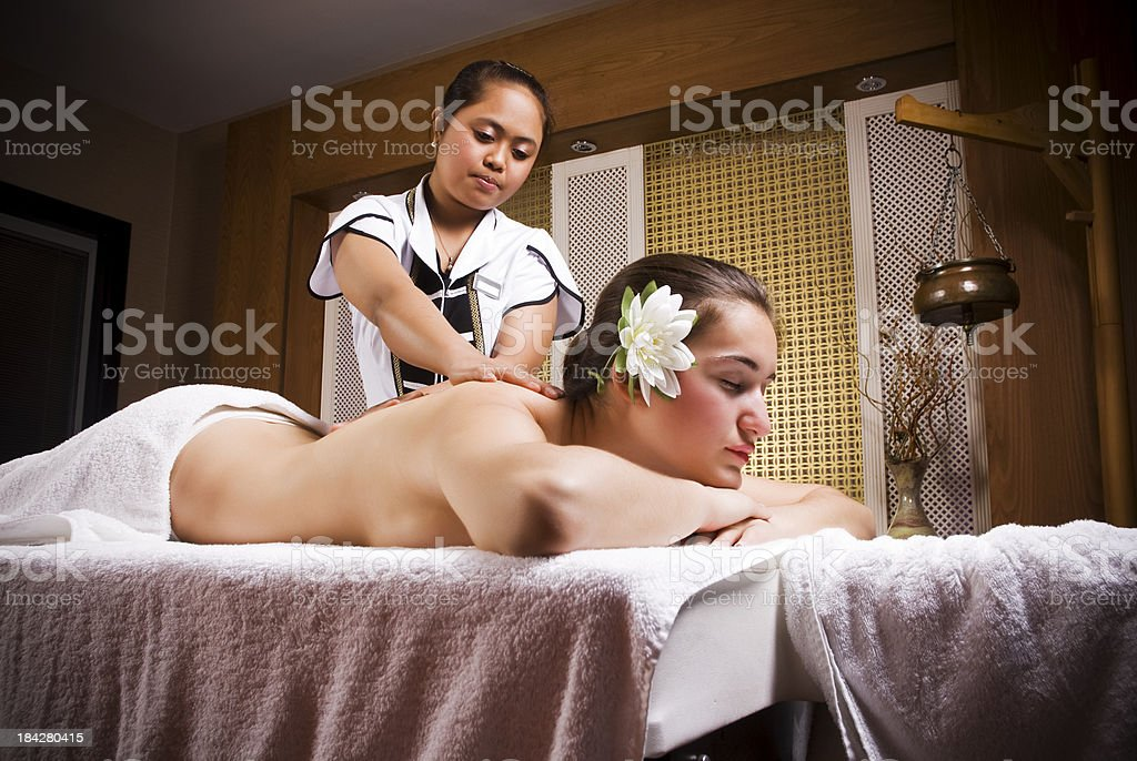 Relaxation With Thai Massage royalty-free stock photo