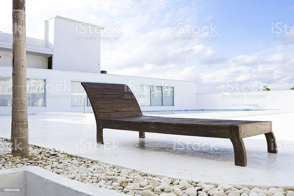 Relaxe At The Poolside royalty-free stock photo