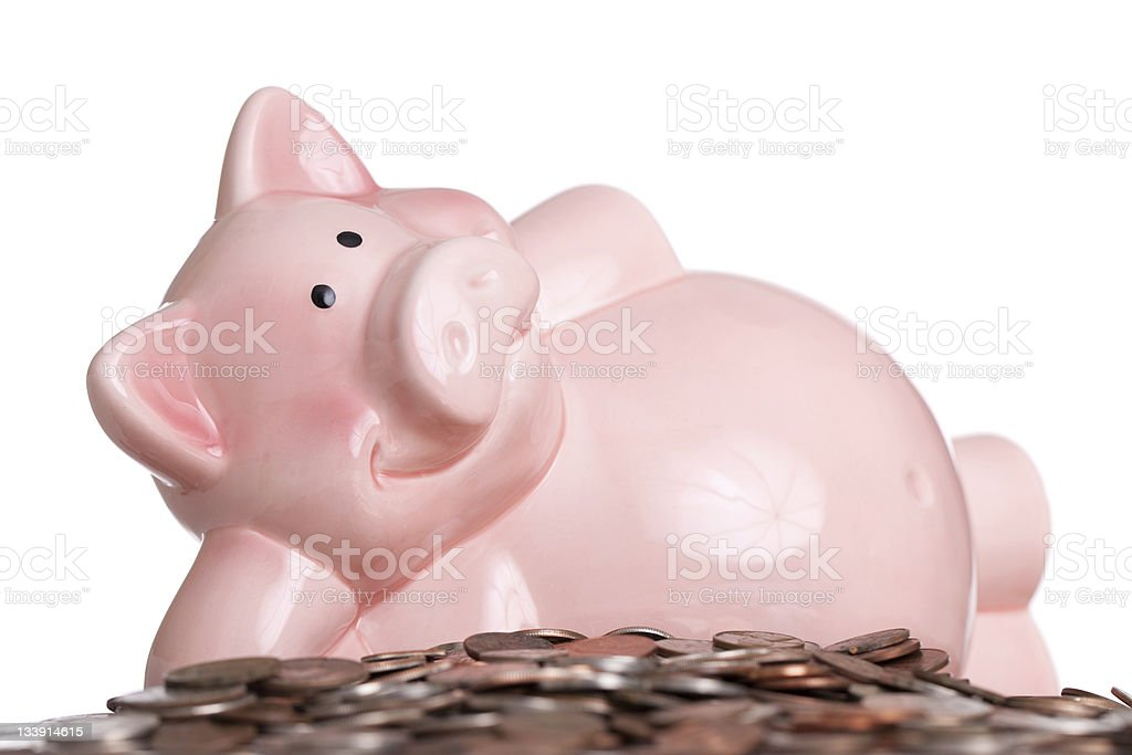 Relaxed About Savings royalty-free stock photo