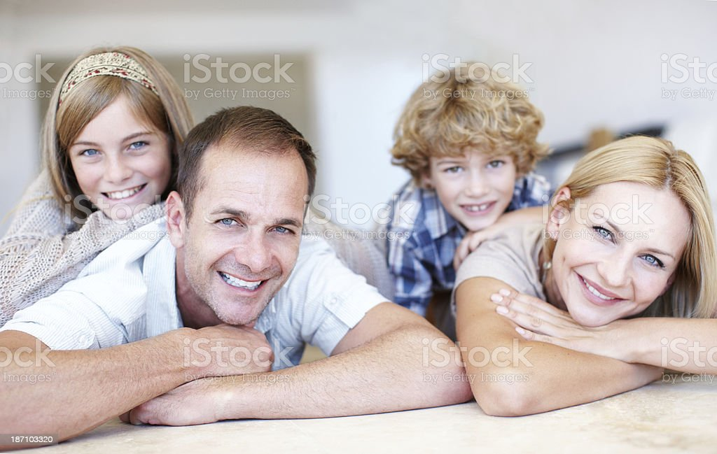 Relaxed at home royalty-free stock photo