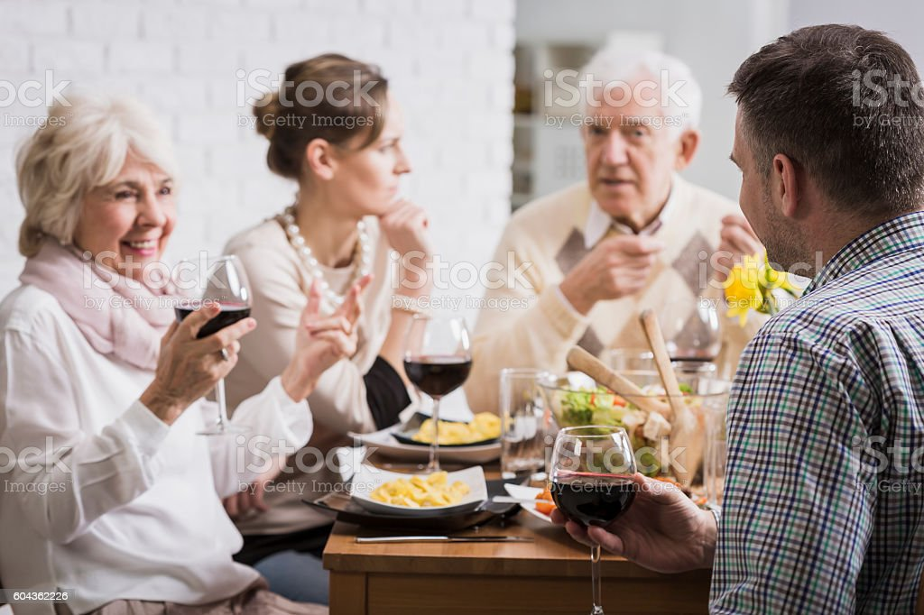Relaxed atmosphere with family stock photo
