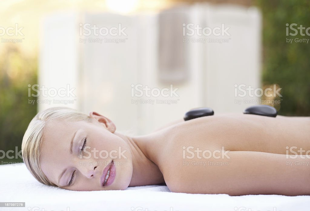 Relaxed beauty royalty-free stock photo