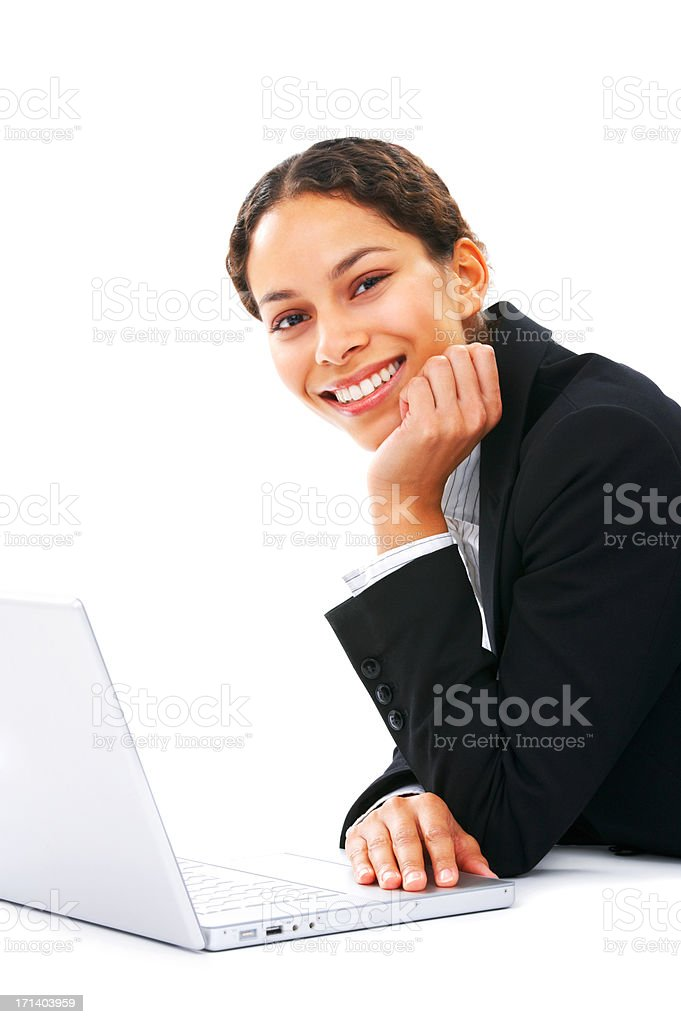Relaxed business student royalty-free stock photo