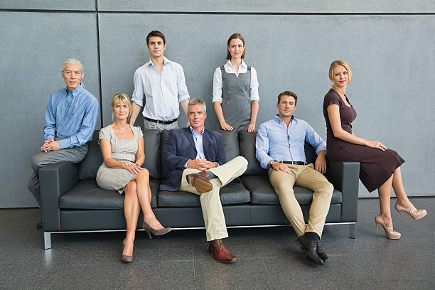Relaxed Business Team Portrait stock photo