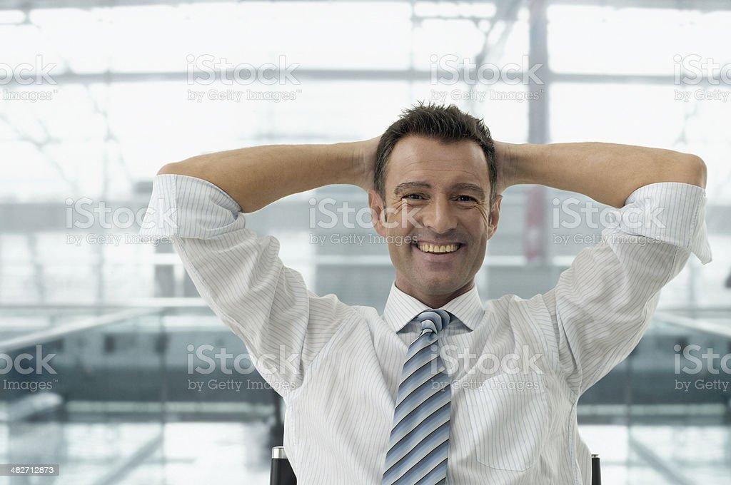 Entspannte Geschäftsmann – Foto