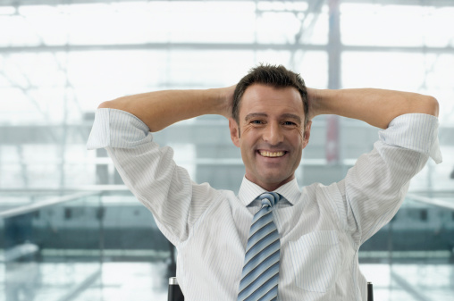 Relaxed Businessman Stock Photo - Download Image Now