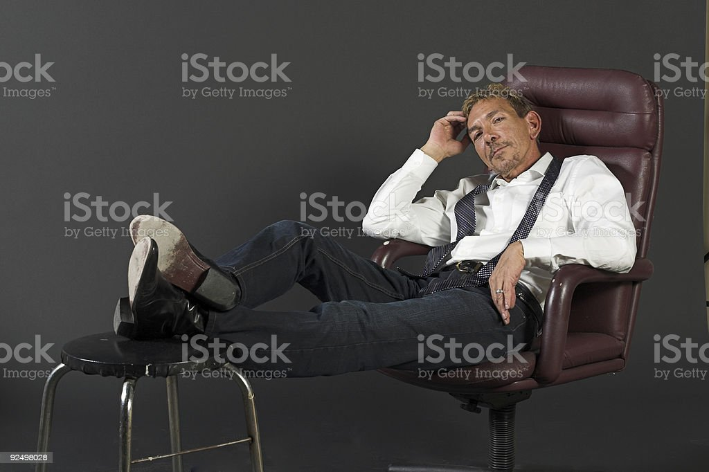 Relaxed businessman royalty-free stock photo