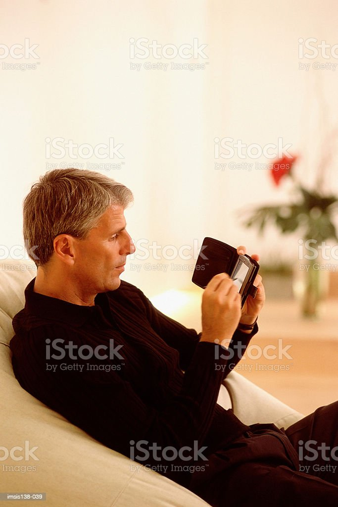 Relaxed businessmen royalty free stockfoto