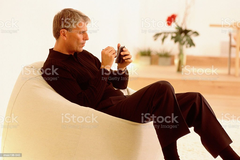 Relaxed businessmen royalty-free stock photo