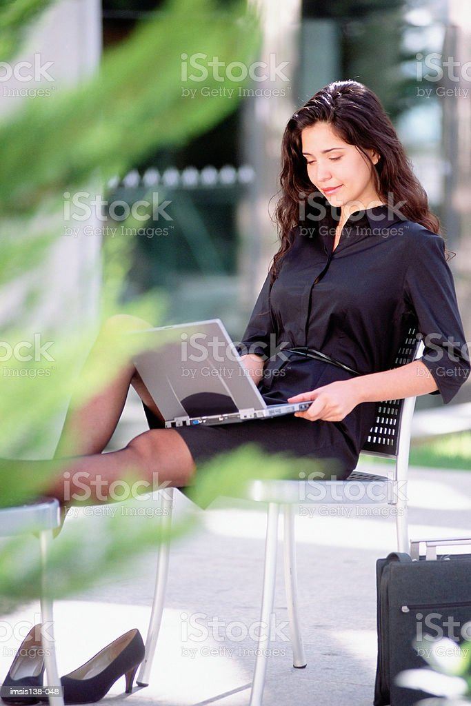 Relaxed businesswoman 免版稅 stock photo