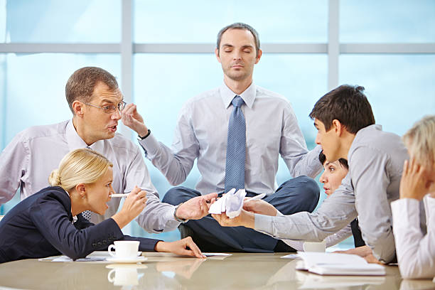 Relaxed CEO stock photo