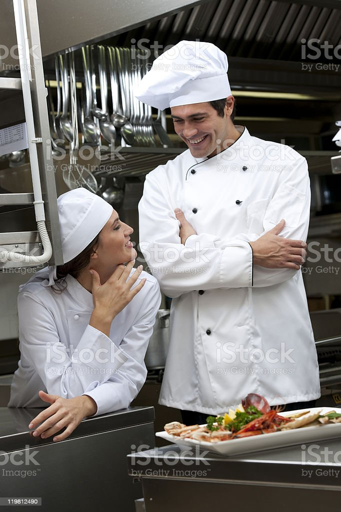 Relaxed Chefs royalty-free stock photo