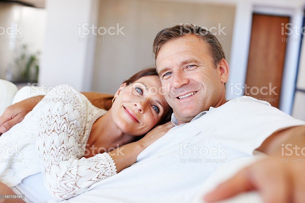 Relaxed couple royalty-free stock photo