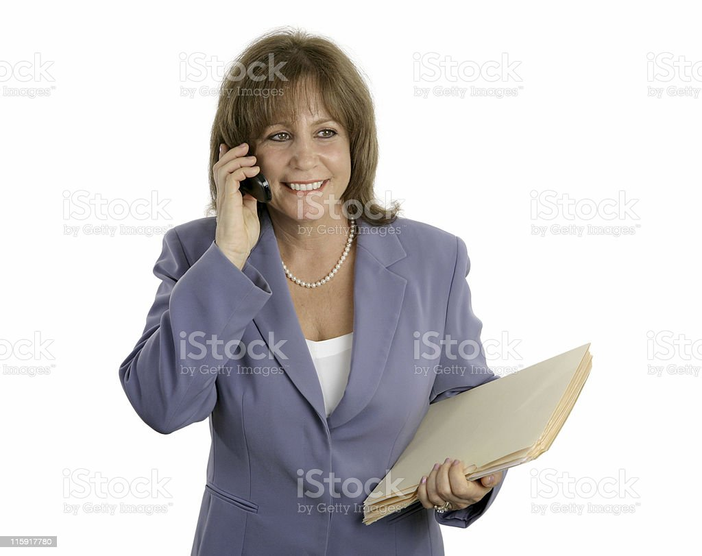 Relaxed Efficient Businesswoman royalty-free stock photo