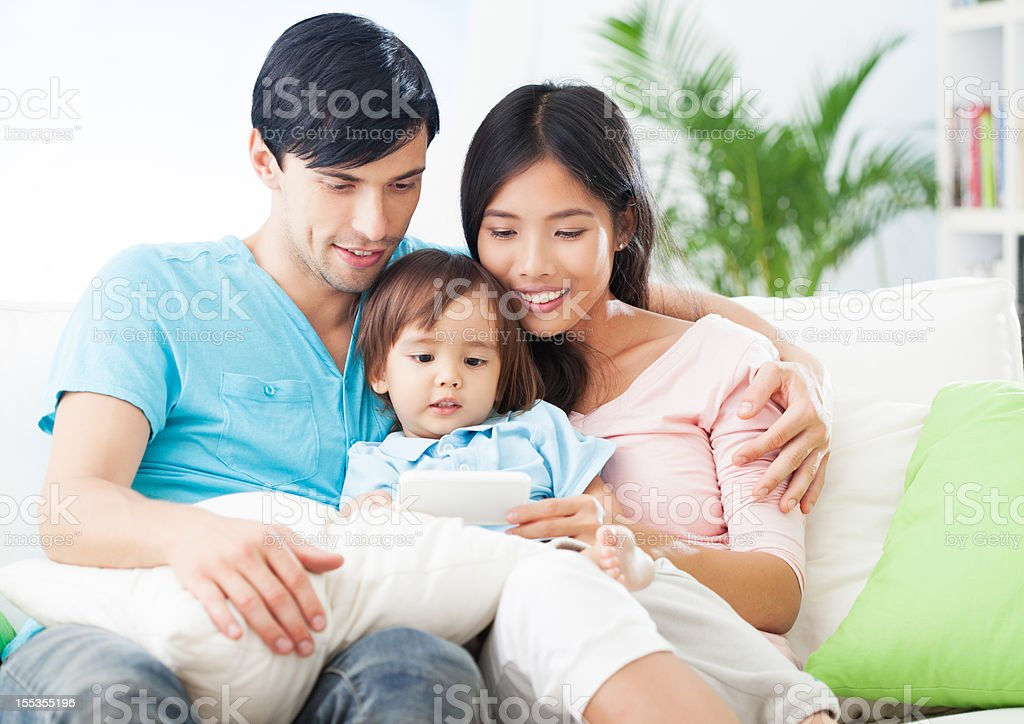 Relaxed Family Time royalty-free stock photo