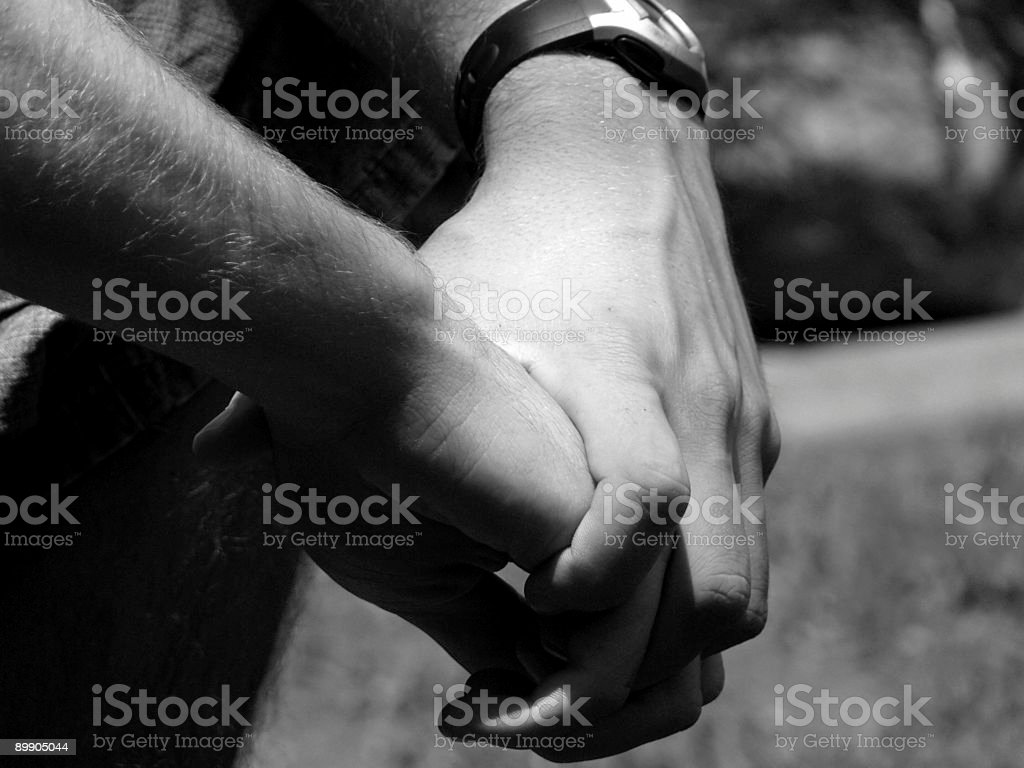 Relaxed hands. royalty-free stock photo