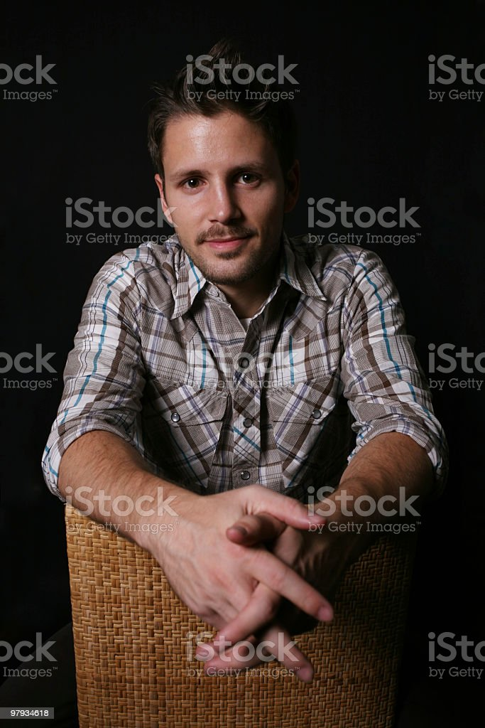 Relaxed male royalty-free stock photo