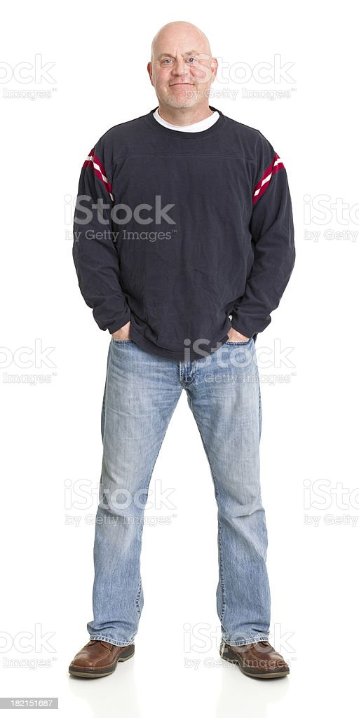Relaxed Mature Man Standing stock photo