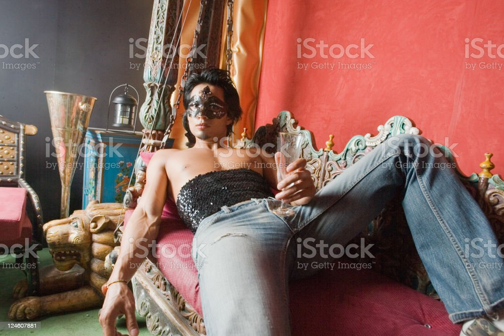 Relaxed royalty-free stock photo
