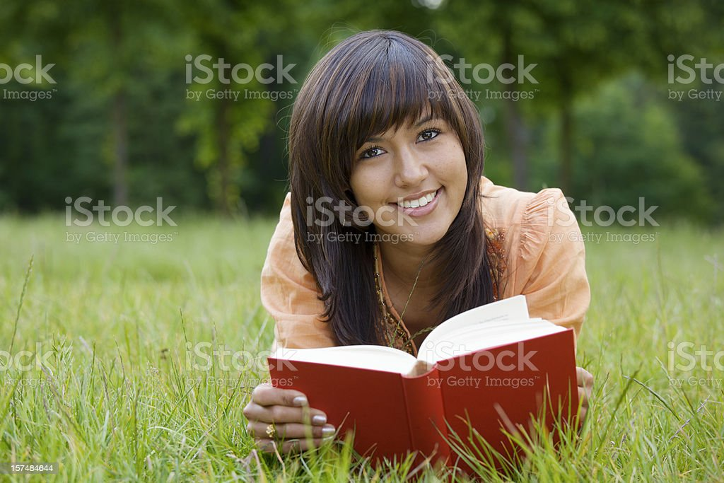 Relaxed Reading royalty-free stock photo