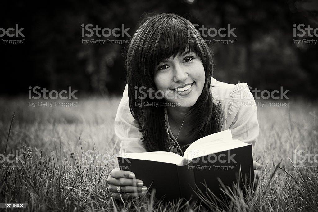 Détendu Reading (sépia - Photo