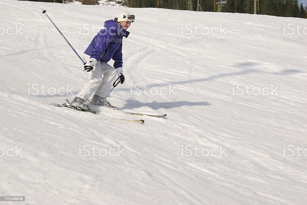 Relaxed skiing royalty-free stock photo
