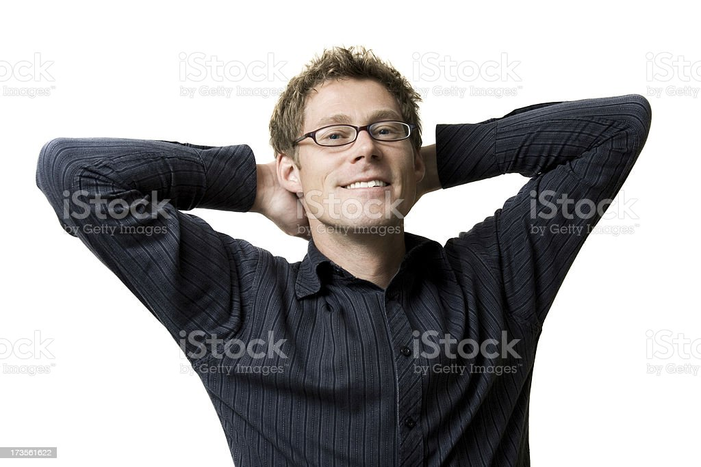 Relaxed Smiling Man royalty-free stock photo