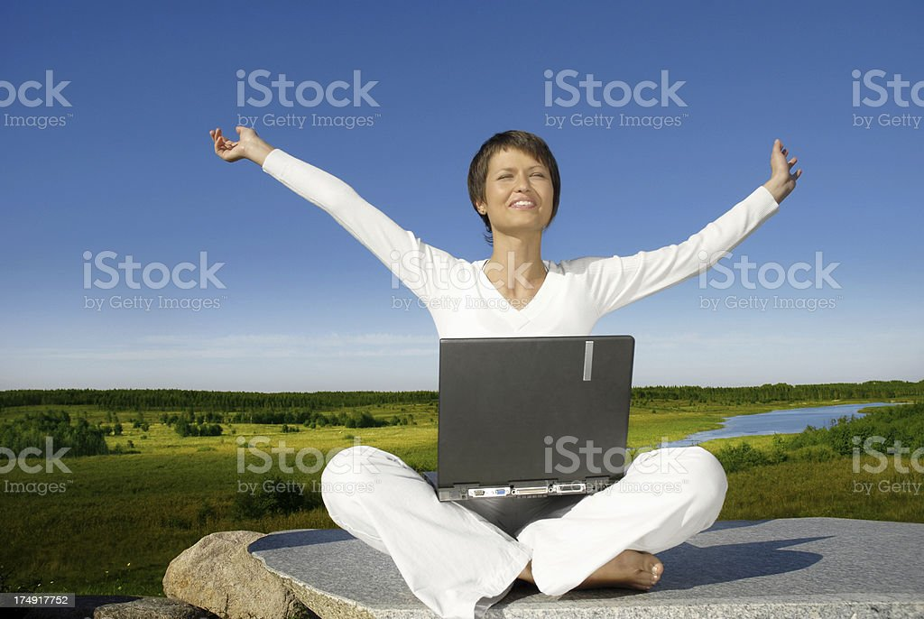Relaxed student royalty-free stock photo