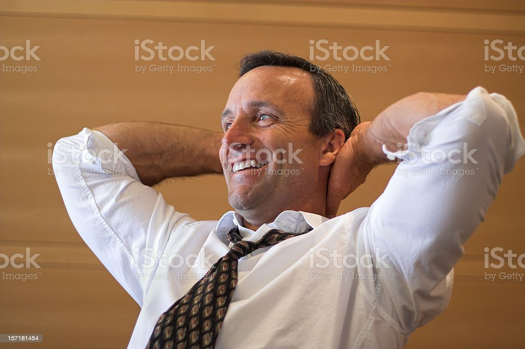 Relaxed Success royalty-free stock photo