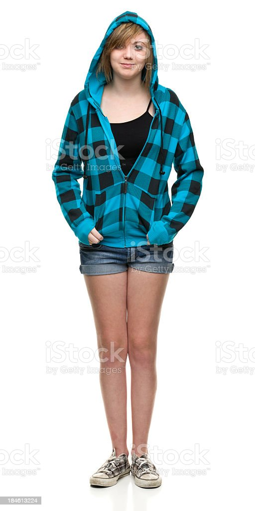 Relaxed Teenage Girl stock photo