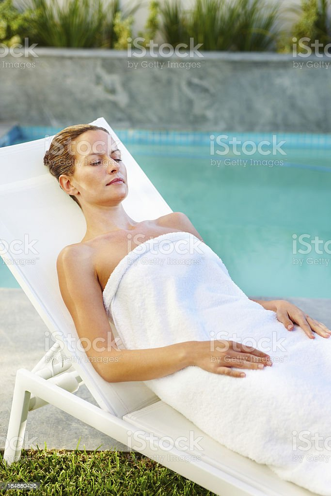 Relaxed woman royalty-free stock photo
