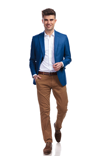041225d0306e Relaxed Young Smart Casual Man Walking Forward Stock Photo & More Pictures  of Adult - iStock