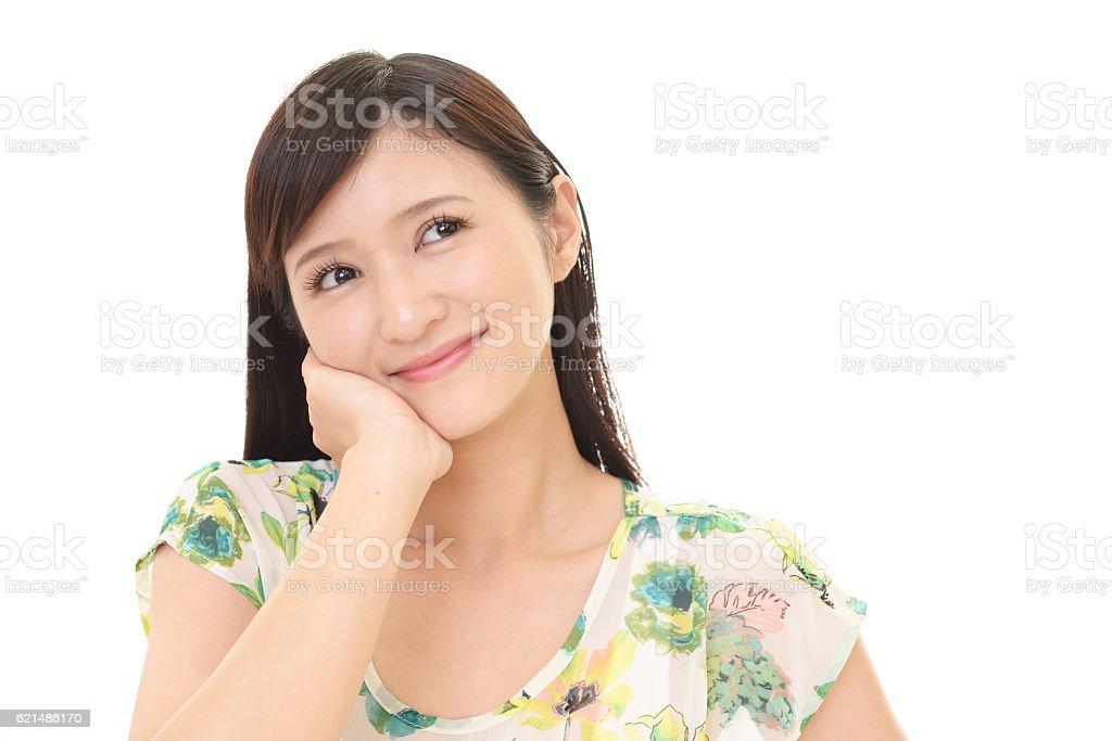 Rilassata giovane donna. foto stock royalty-free