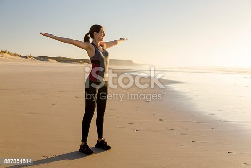 887354516istockphoto Relaxing after my exercise 887354514