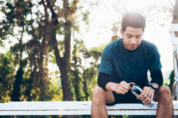 Entspannen sich nach körperlichem Training Session. – Foto
