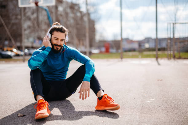 relaxing after run - milan2099 stock photos and pictures