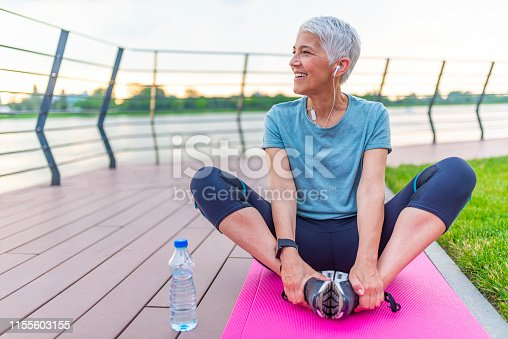 istock Relaxing after training. 1155603155