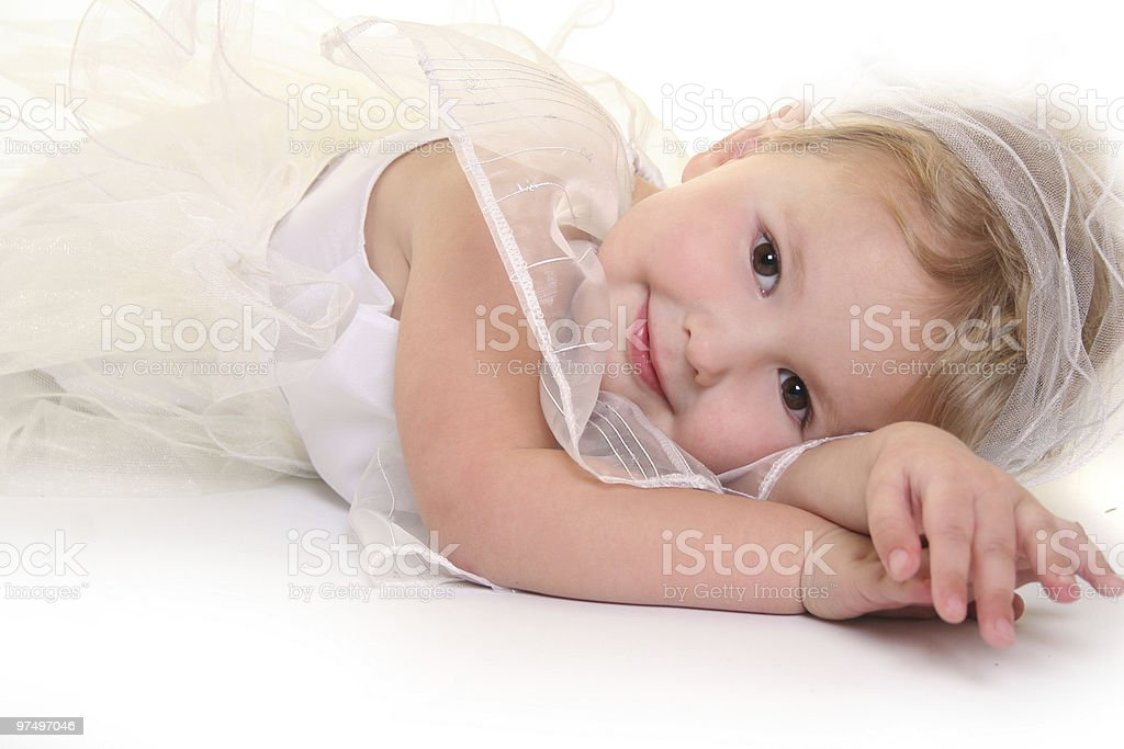 relaxing angel royalty-free stock photo