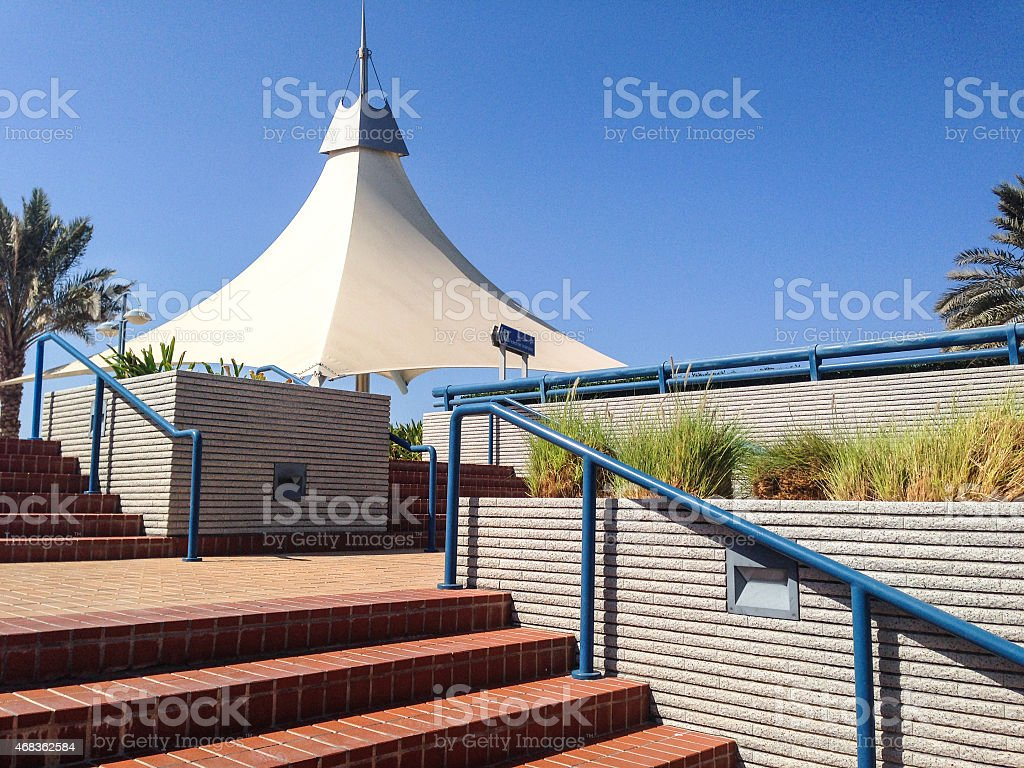 relaxing area in Abu dhabi royalty-free stock photo
